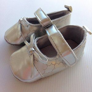 Baby Silver Shoes Size 6-12 Month Mary Jane Sandal